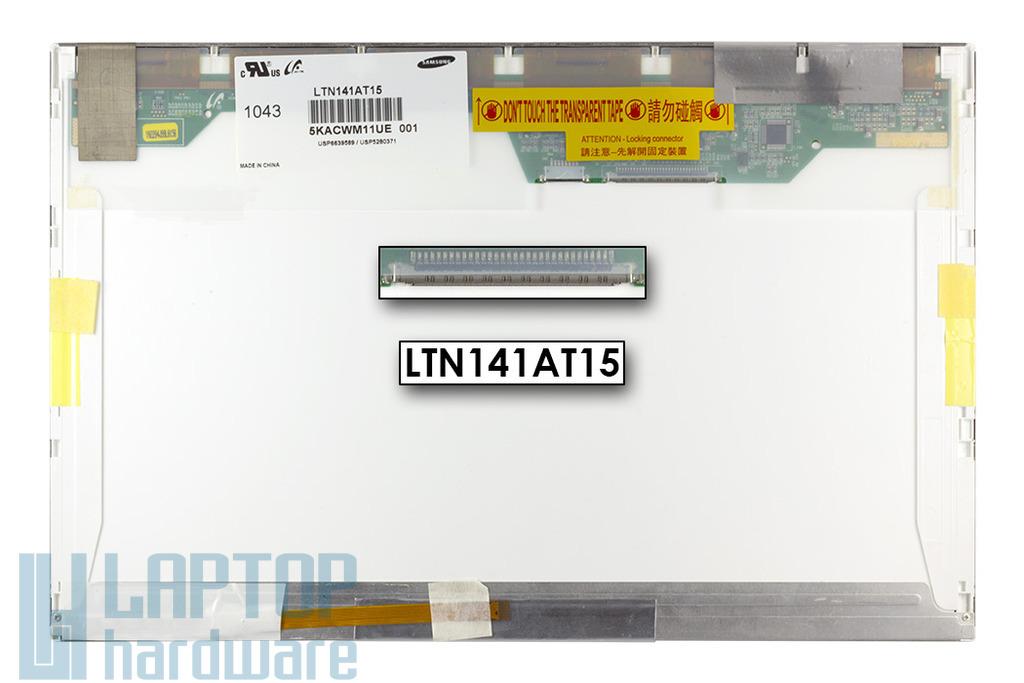 Gyári új matt 14.1'' (1280x800) LED kijelző Lenovo T400, R400 laptopokhoz (csatlakozó: 12 pin BL + 30 pin SI jobb)