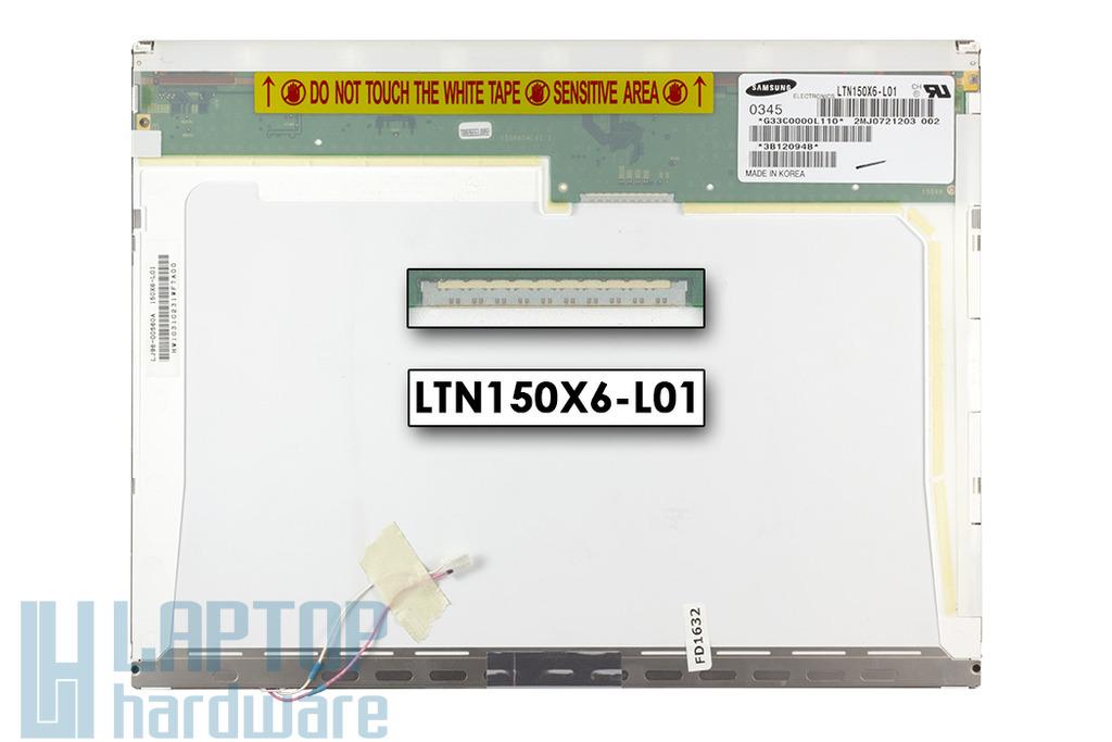 Samsung LTN150X6-L01 CCFL XGA használt matt laptop LCD kijelző