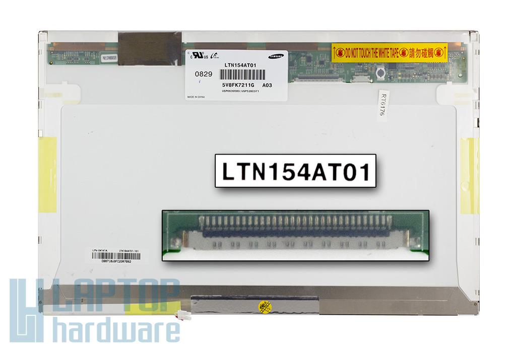 Samsung LTN154AT01 15,4 inch CCFL WXGA használt fényes laptop kijelző