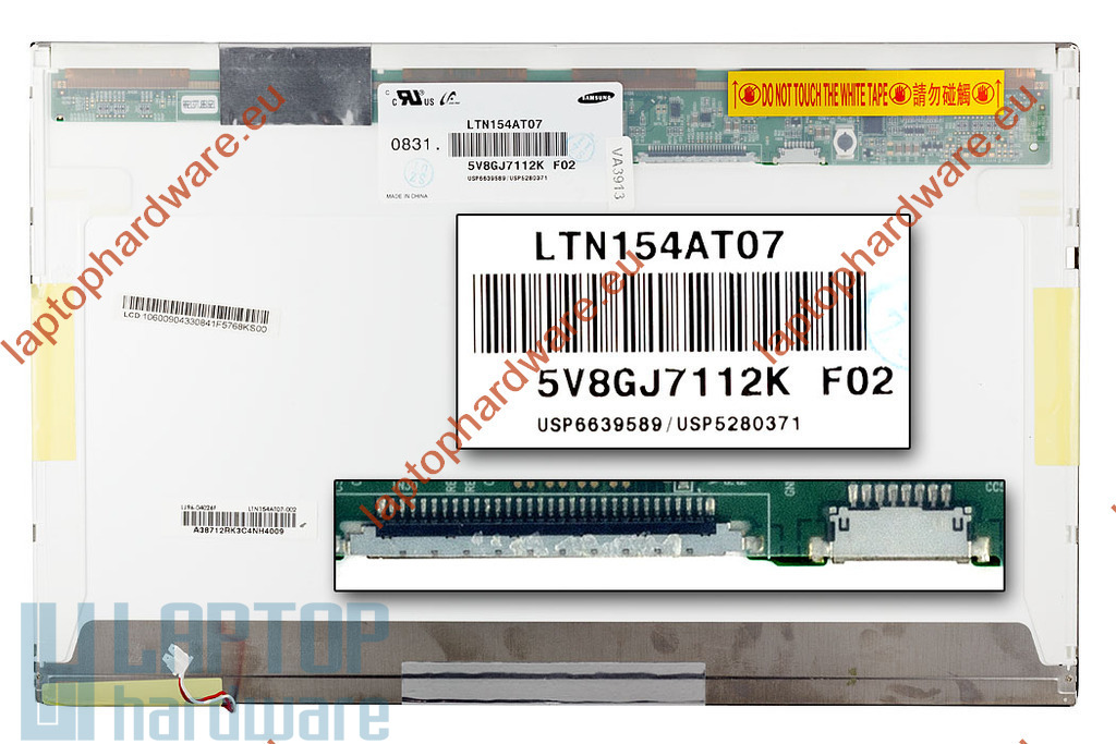 Samsung LTN154AT07 15.4 inch WXGA CCFL használt matt laptop kijelző