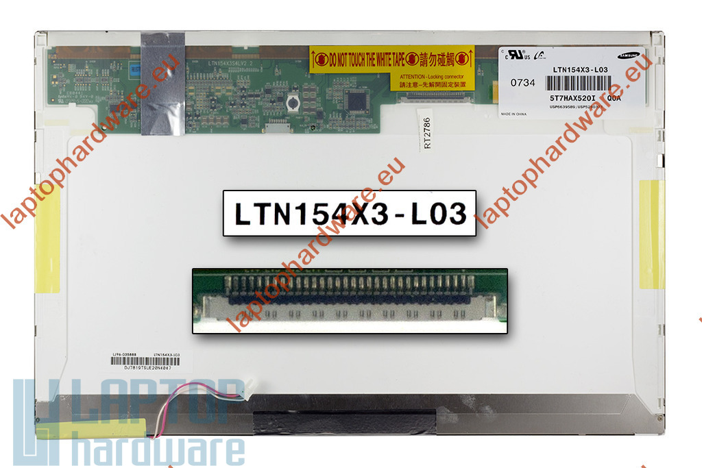 Samsung LTN154X3-L03 15,4 inch WXGA CCFL használt matt  laptop LCD kijelző