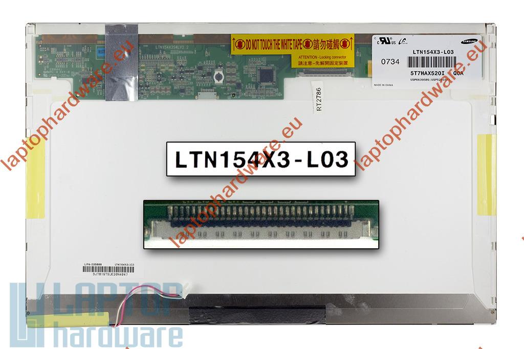 Samsung LTN154X3-L03 15,4 inch WXGA CCFL használt fényes C kategóriás laptop LCD kijelző