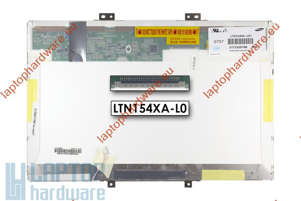 Samsung LTN154XA-L01 használt matt 15.4'' (1280x800) CCFL laptop kijelző (csatlakozó: 30 pin - jobb felül)