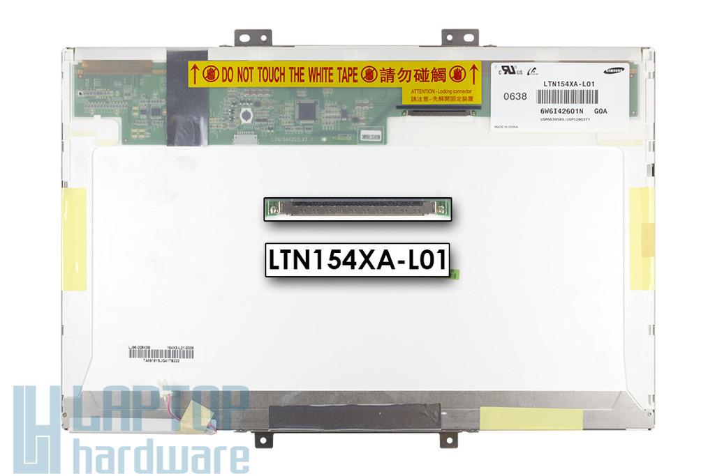 Samsung LTN154XA-L01 15.4 inch WXGA CCFL használt fényes laptop kijelző B kategóriás