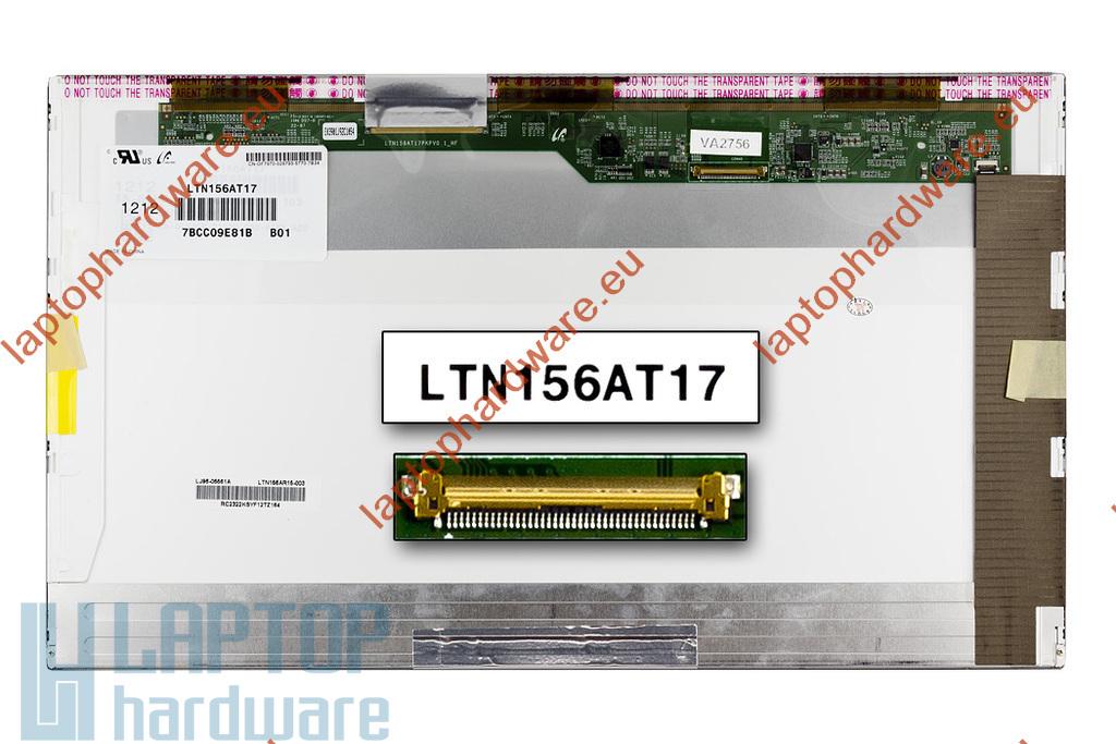 Samsung LTN156AT17-D02 (15,6) 1366x768 használt fényes HD LED laptop kijelző