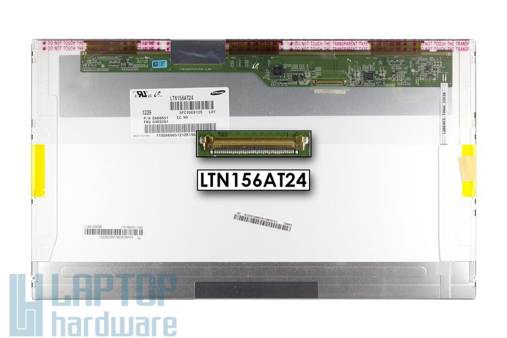 Samsung LTN156AT24 1366x768 15,6'' HD LED használt fényes kijelző