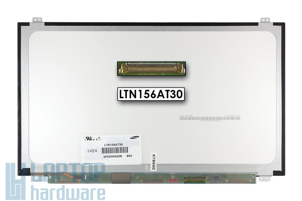 Gyári új matt 15.6'' HD (1366x768) LED laptop Slim kijelző (csatlakozó: 40 pin - jobb)