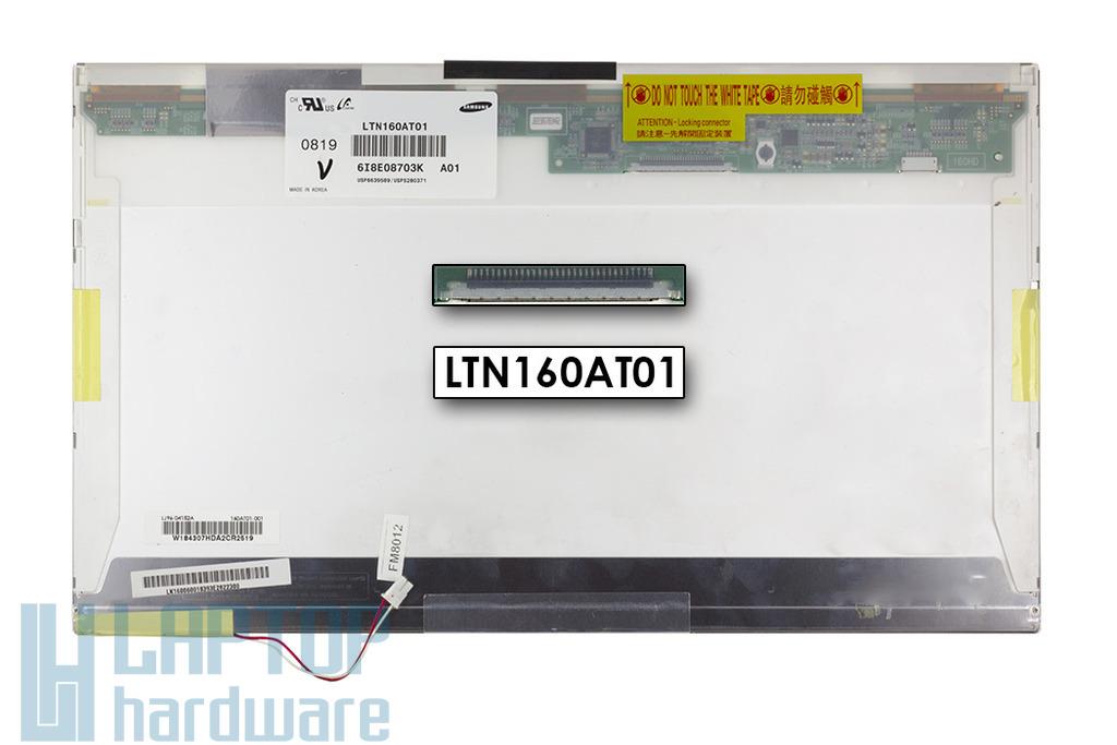 Samsung LTN160AT01 1366x768 WXGA HD használt laptop LCD kijelző