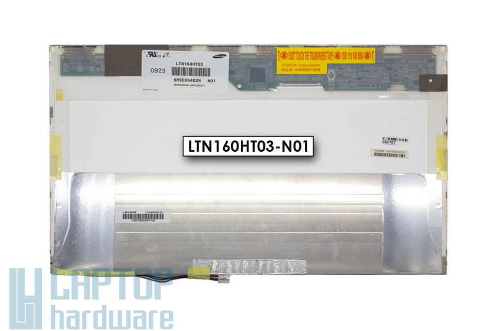 Samsung LTN160HT03-N01 gyári új fényes 16'' Full HD (1920x1080) (2-)CCFL laptop LCD kijelző (30 pin)