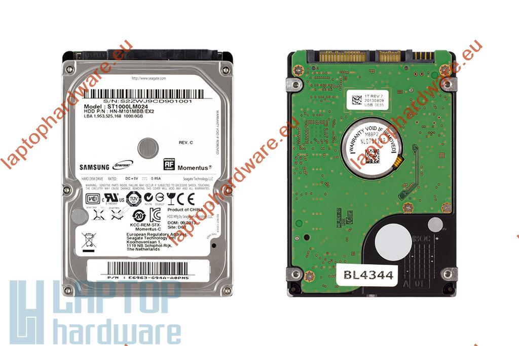 1TB 5400RPM  2,5'' SATA (3Gbit/s) használt laptop winchester, HDD