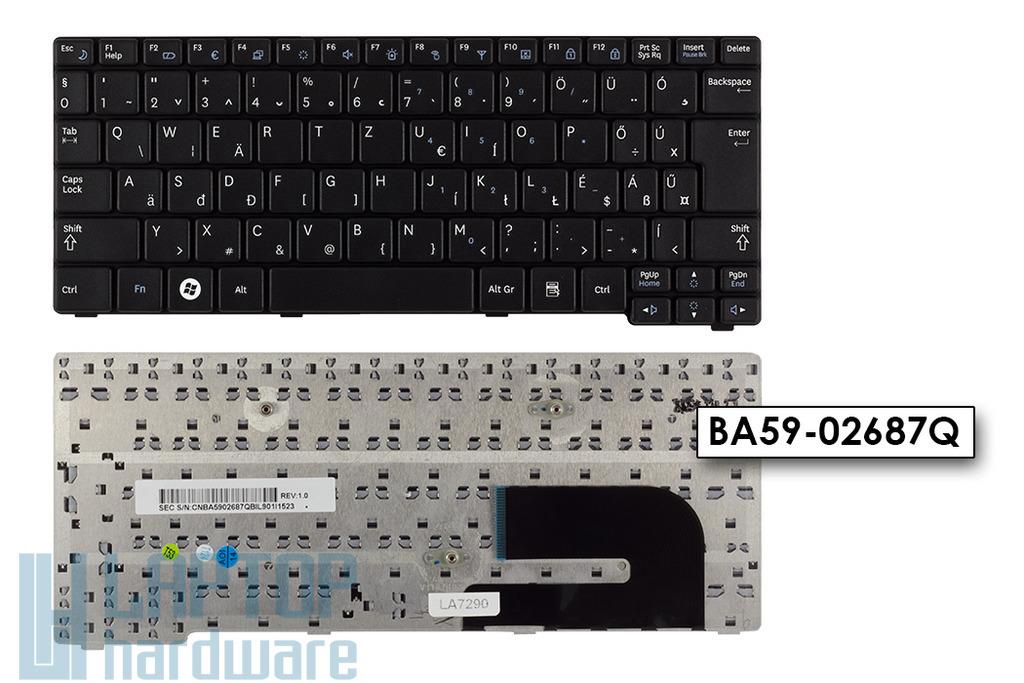 Samsung N140, N150 gyári új magyar fekete laptop billentyűzet (BA59-02687Q)