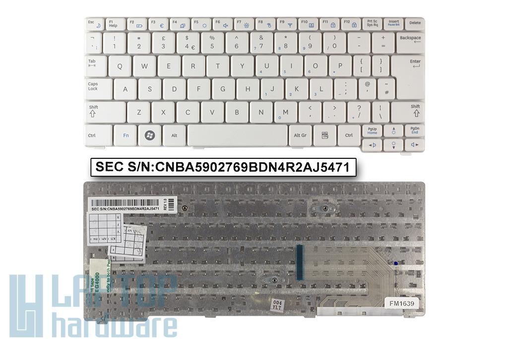 Samsung N140, N150 gyári új UK angol fehér laptop billentyűzet