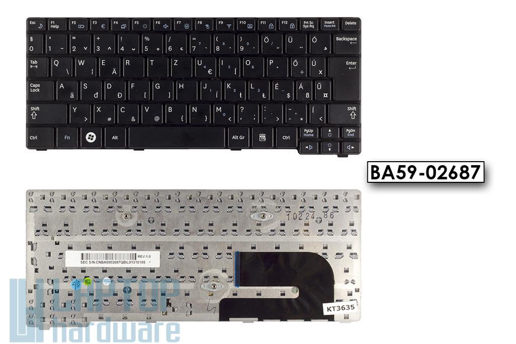 Samsung N140, N150 használt magyar fekete laptop billentyűzet, BA59-02687
