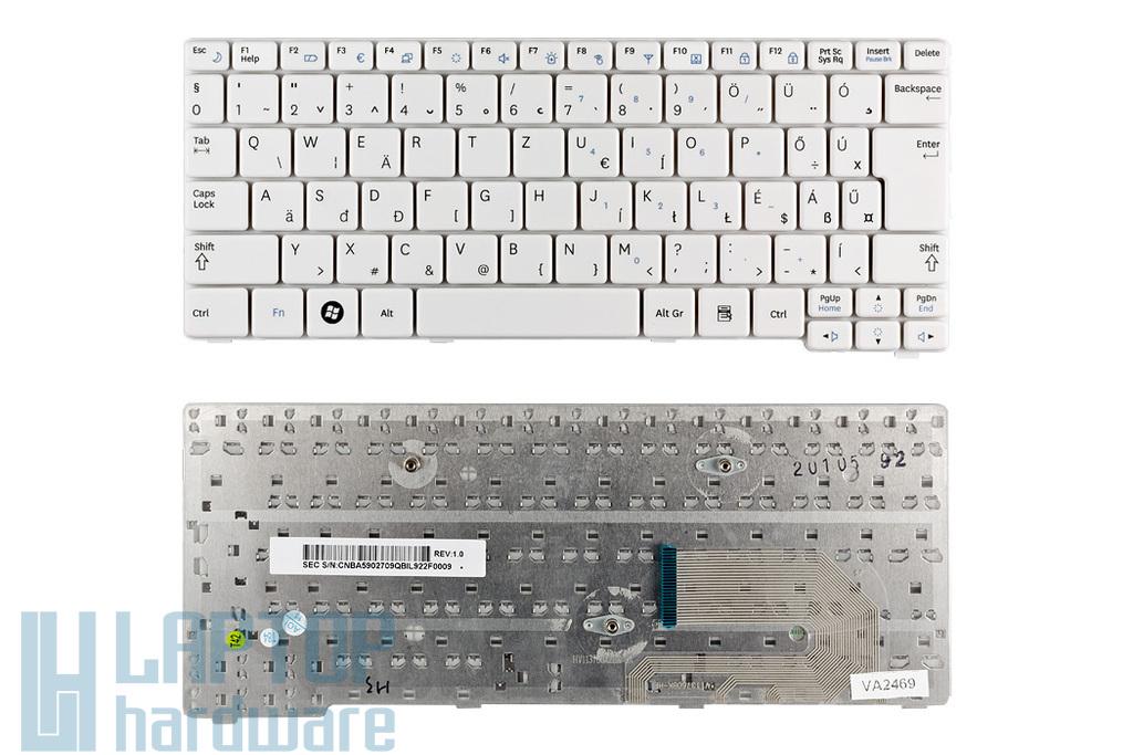 Samsung N140, N150 használt magyar fehér laptop billentyűzet (BA59-02709Q)