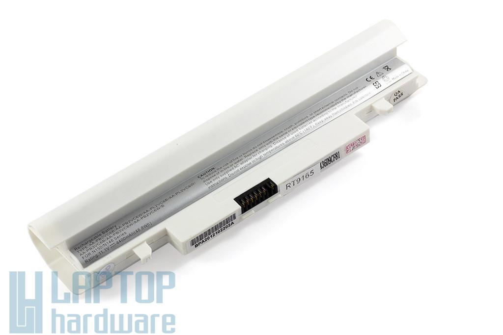 Samsung N148, N150, NP-N148, NP-150 helyettesítő új 6 cellás fehér laptop akku/akkumulátor (AA-PB2VC6B)