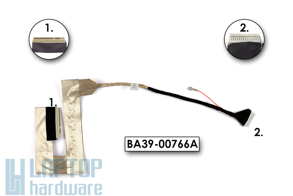 Samsung NC10 laptop LCD kijelző kábel, BA39-00766A