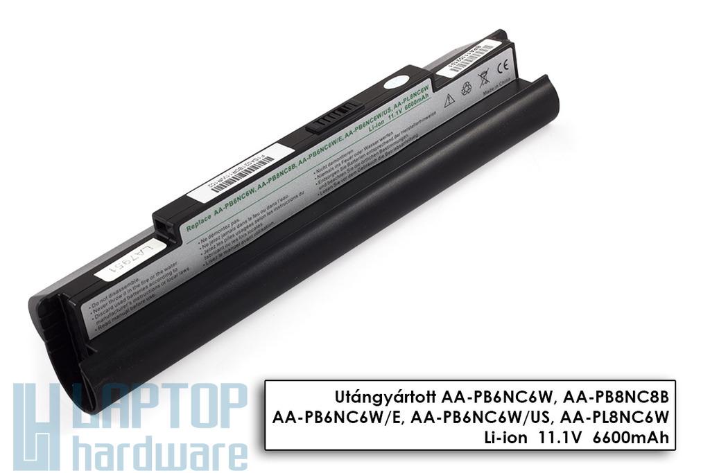 Samsung NC10, NC20, ND10 helyettesítő új fekete 9 cellás nagy kapacitású laptop akku/akkumulátor (AA-PB6NC6W)