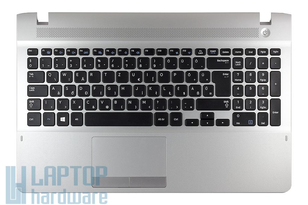 Samsung NP-270E5E, NP-270E5V gyári új magyar szürke komplett laptop billentyűzet modul (hangszóróval és touchpaddal) (BA75-04430Q)