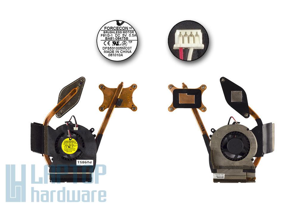 Samsung NP-R580, NP-R590 laptophoz használt komplett hűtő ventilátor egység (BA62-00496B)