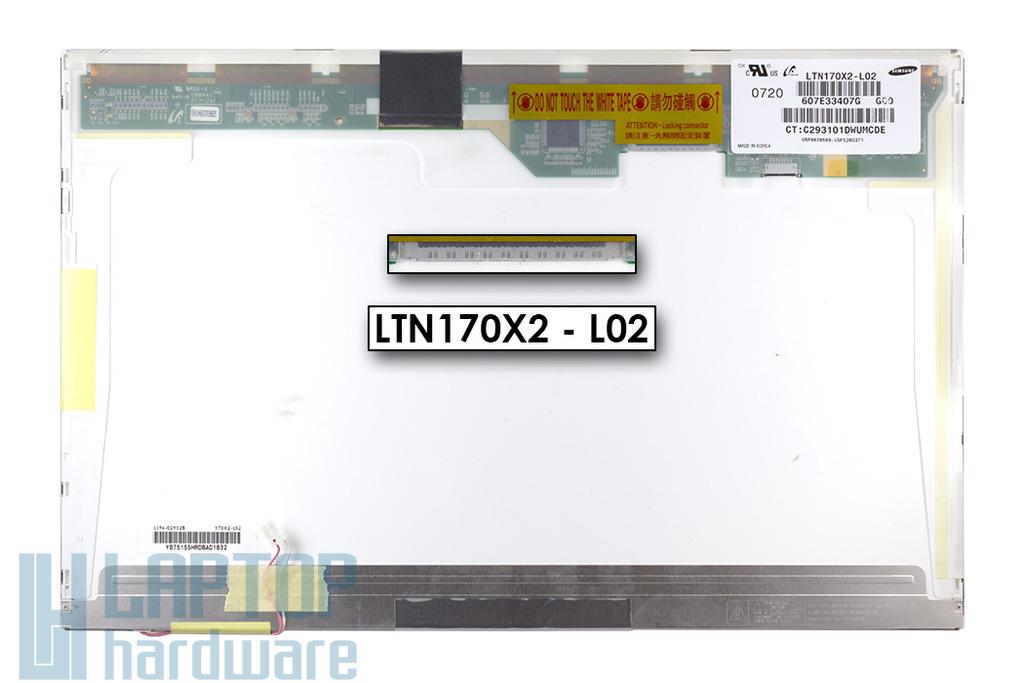 """Samsung NP-R700 17"""" használt fényes laptop kijelző (LTN170X2-L02)"""