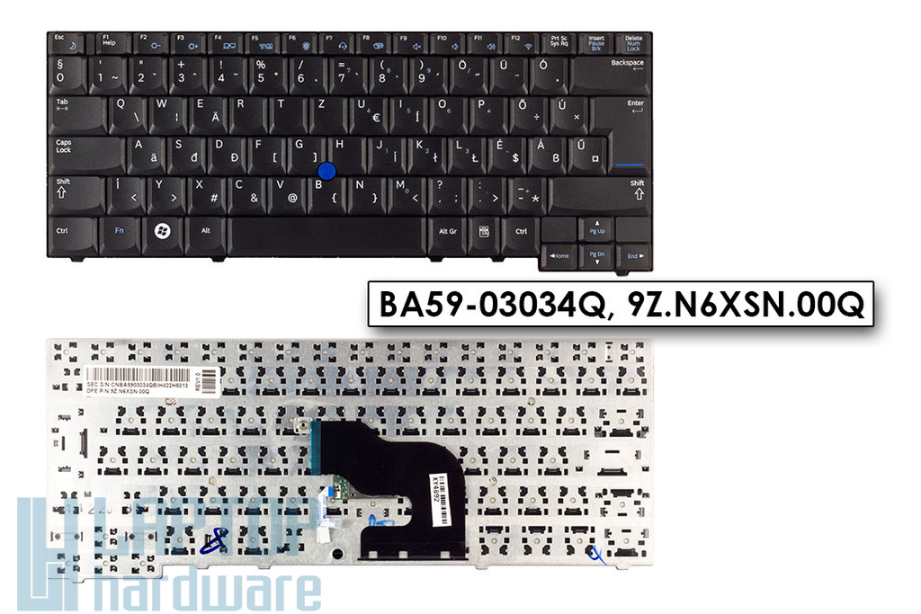 Samsung NP400B2B gyári új magyar fekete laptop billentyűzet trackpointtal (9Z.N6XSN.00Q)