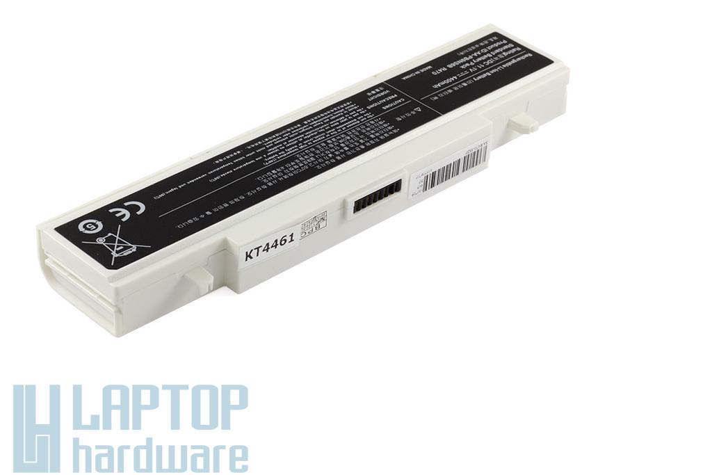Samsung NP300, R580, RV511 helyettesítő új fehér 6 cellás laptop akku/akkumulátor (AA-PB2NC3B)