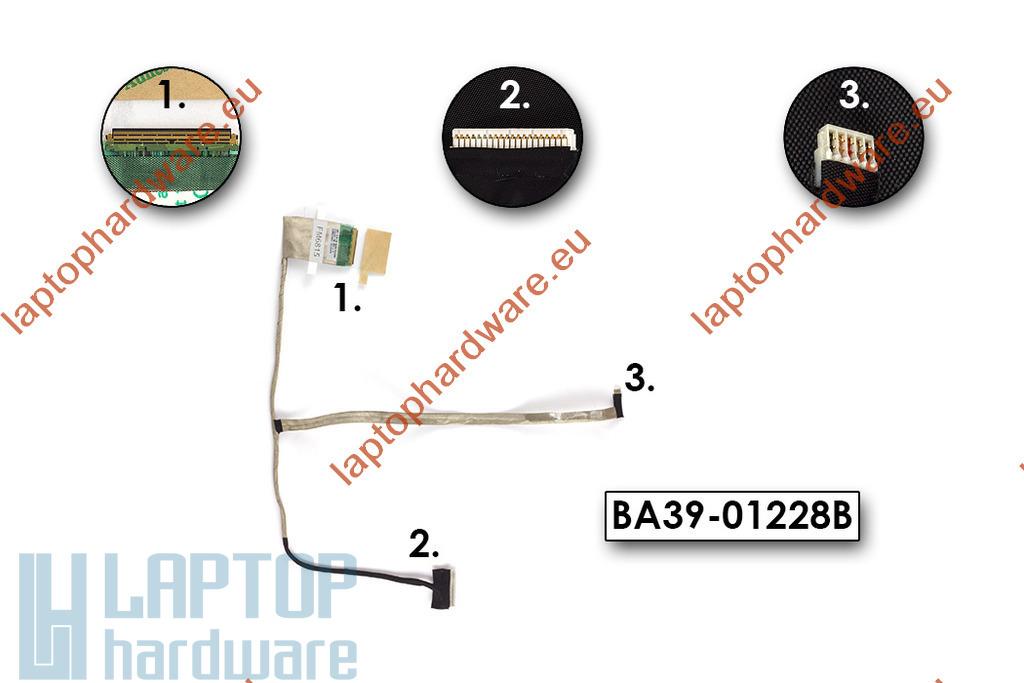 Samsung NP300E5A, NP305E5A laptop LCD kijelző kábel használt, BA39-01228B