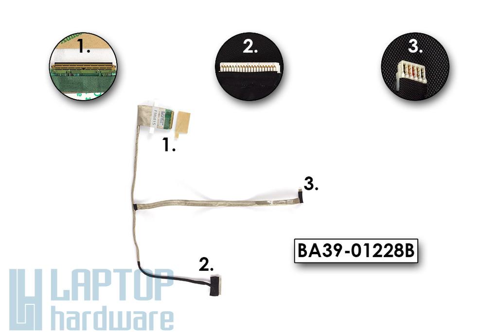 Samsung NP300E5A, NP305E5A laptop LCD kijelző kábel, BA39-01228B