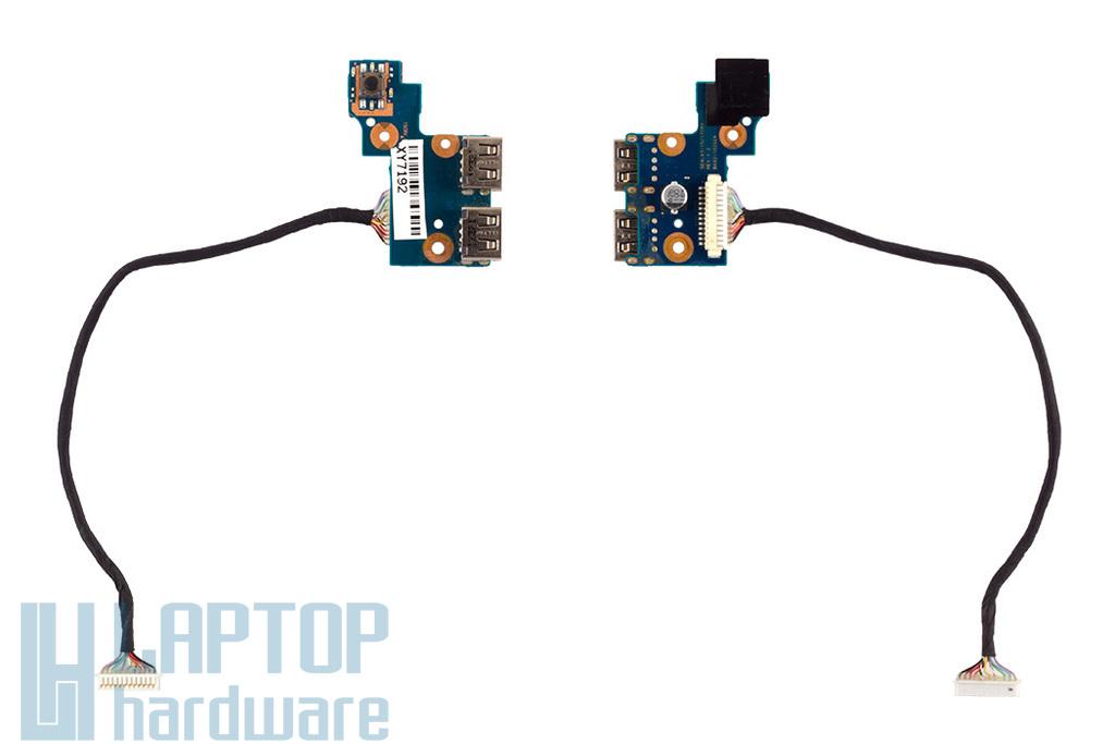 Samsung NP300E5C használt laptop USB és bekapcsoló panel (BA92-10202A)