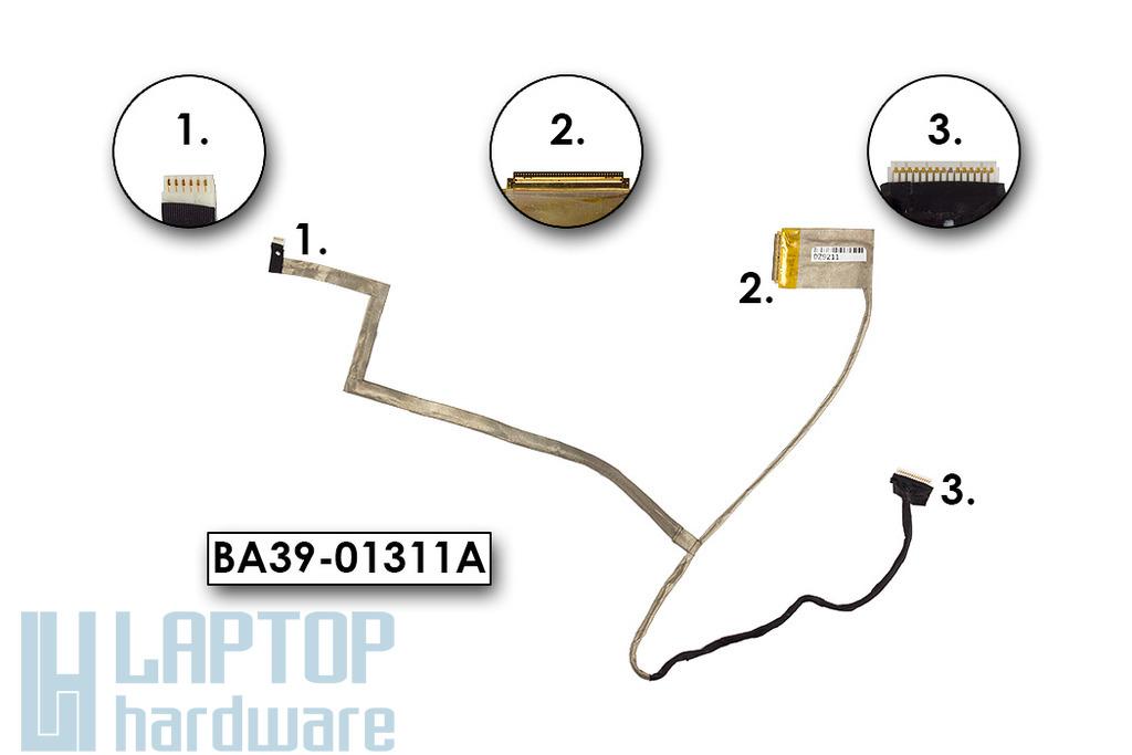 Samsung NP300E5E, NP270, NP275E5E laptop használt LCD kijelző kábel, BA39-01311A