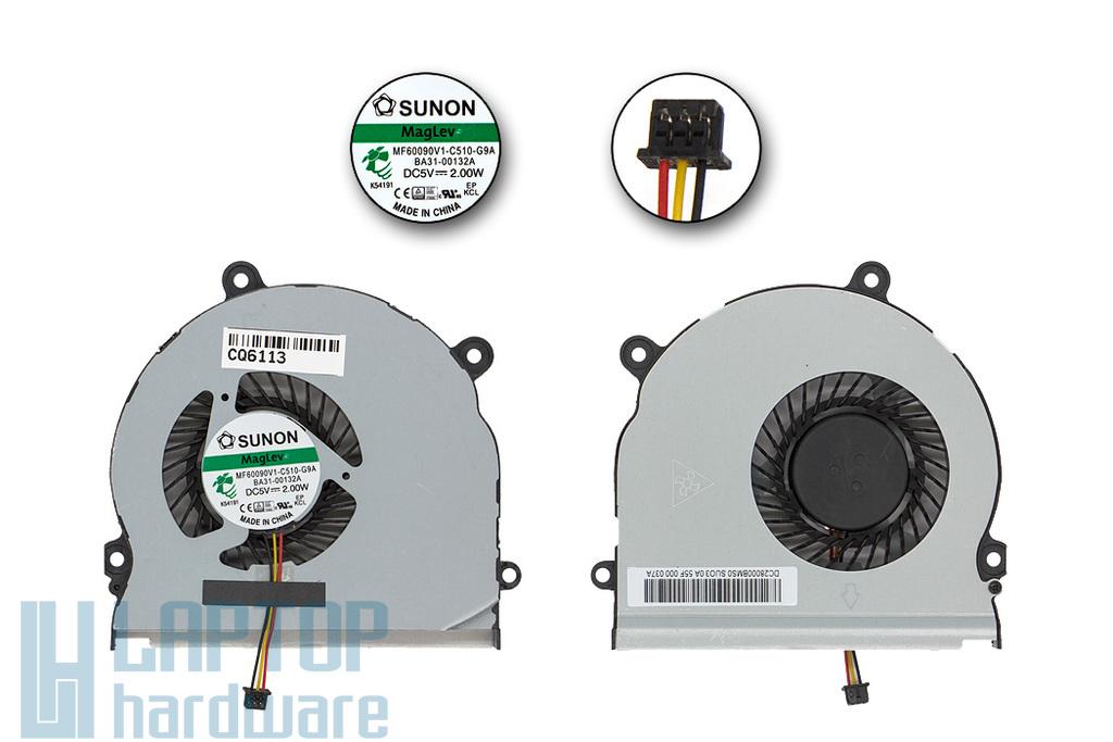 Samsung NP350E5C, NP355E5C, NP365E5C gyári új laptop hűtő ventilátor (BA31-00132A, MF60090V1-C510-G9A)