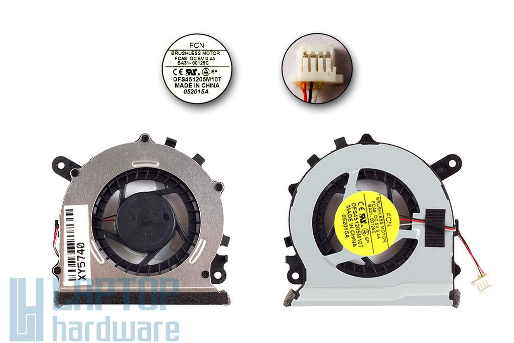 Samsung NP530U3B, NP530U3C, NP535U3C, NP540U3C gyári új laptop hűtő ventilátor (BA31-00125C)