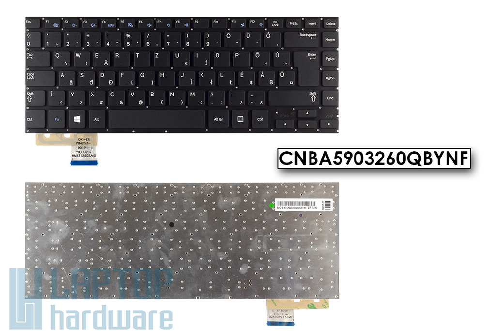 Samsung NP530U4B, NP530U4C használt fekete magyar laptop billentyűzet (BA59-03260Q)