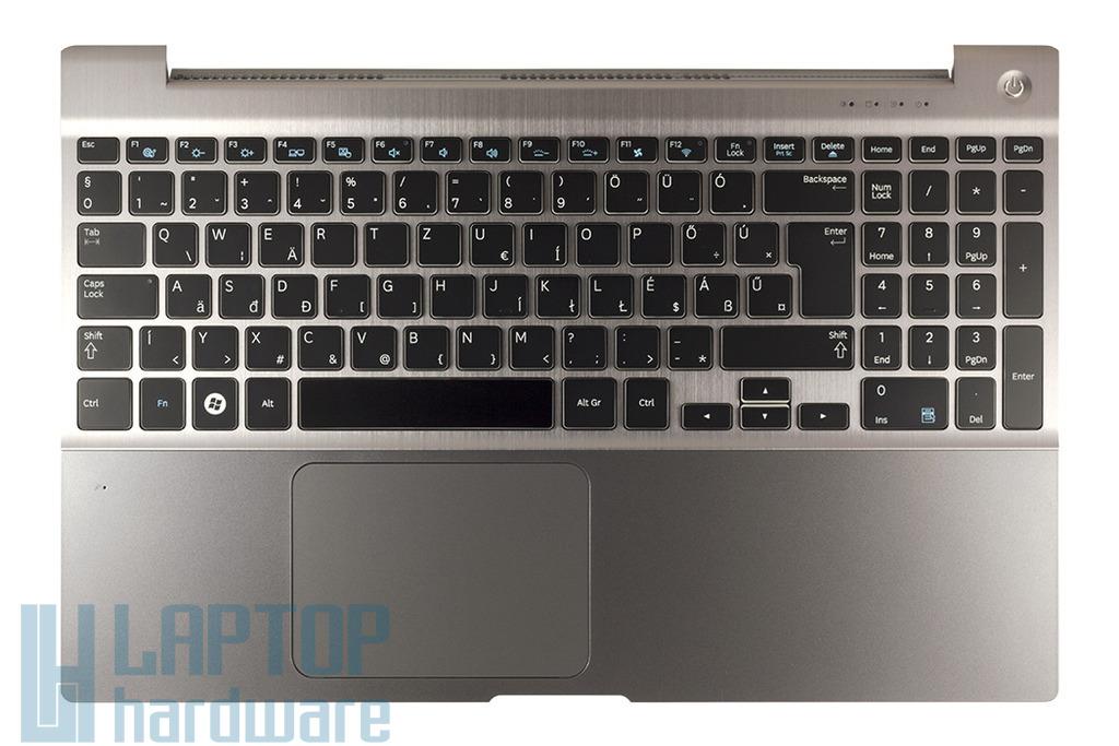 Samsung NP700Z5A, NP700Z5C gyári új szürke magyar laptop billentyűzet modul hangszóróval és touchpaddel (BA75-03510Q)