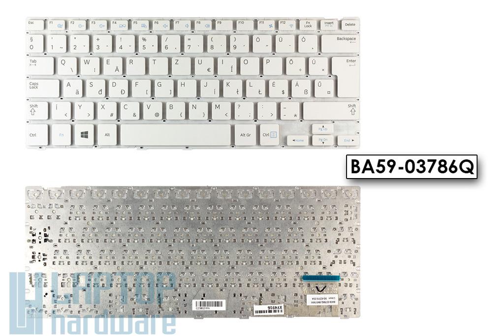 Samsung NP905S3G, NP910S3G, NP915S3G gyári új magyar fehér laptop billentyűzet (BA59-03786Q)