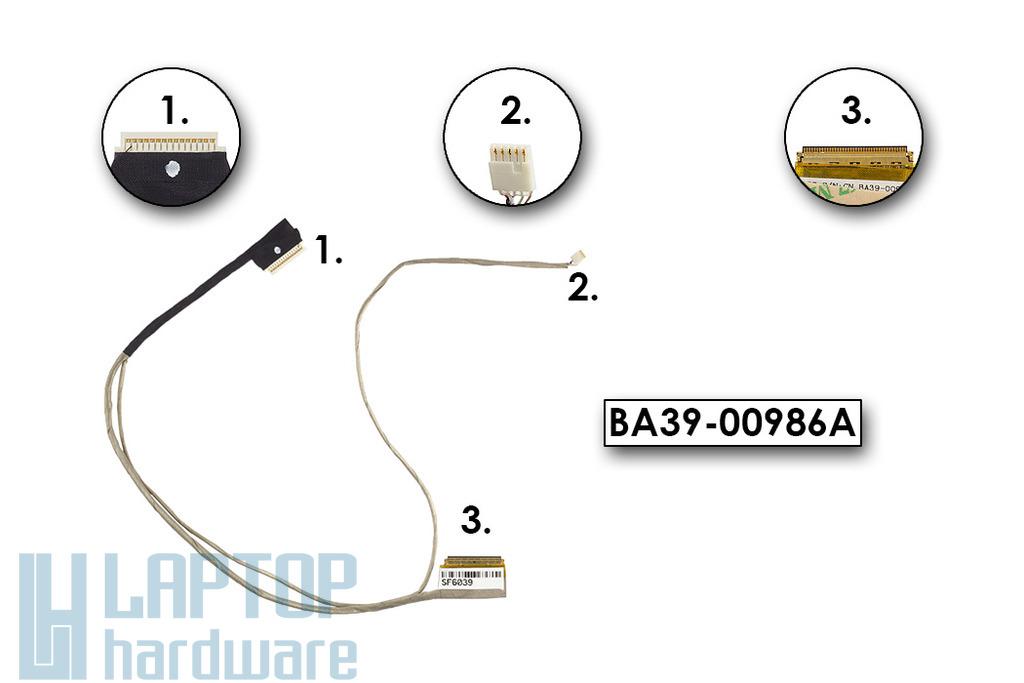 Samsung QX410, QX411, QX412, QX511 gyári új laptop LCD kijelző kábel, BA39-00986A