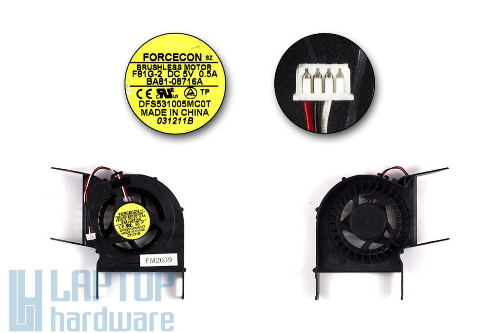 Samsung R428, R429, R440, R480 gyári új laptop hűtő ventilátor, BA81-08715A