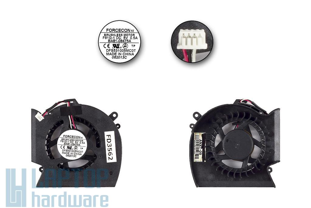 Samsung R480, R530, R580 laptop gyári új laptop hűtő ventilátor, DFS531005MC0T, BA62-00506A