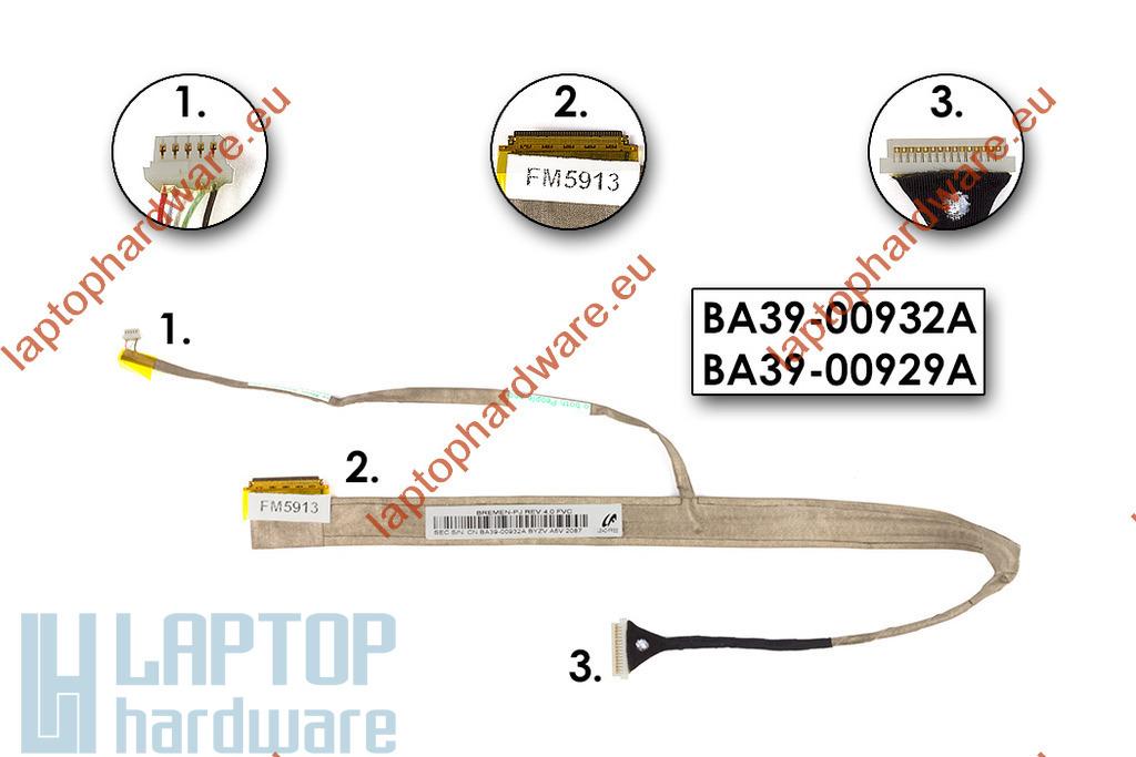 Samsung R528, R530, R540, R580 használt laptop LCD kijelző kábel, BA39-00932A