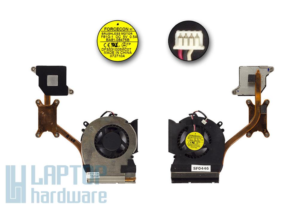 Samsung R530, RV510 laptophoz használt komplett hűtő ventilátor egység (BA62-00498B)