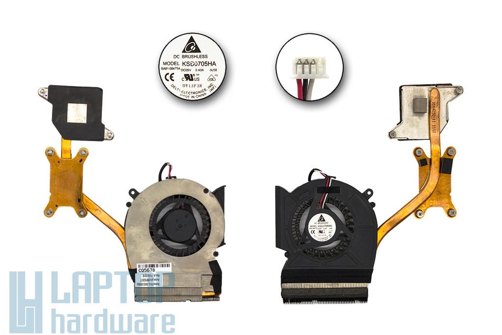 Samsung RV508, R480 használt komplett laptop hűtés (KSB0705HA 9J58, BA81-08475A, BA62-00496A)