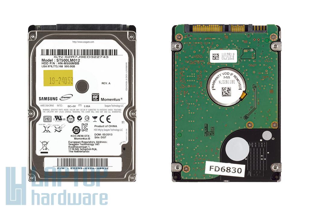 500GB 5400RPM 2,5'' SATA (3Gbit/s) gyári új laptop winchester, HDD