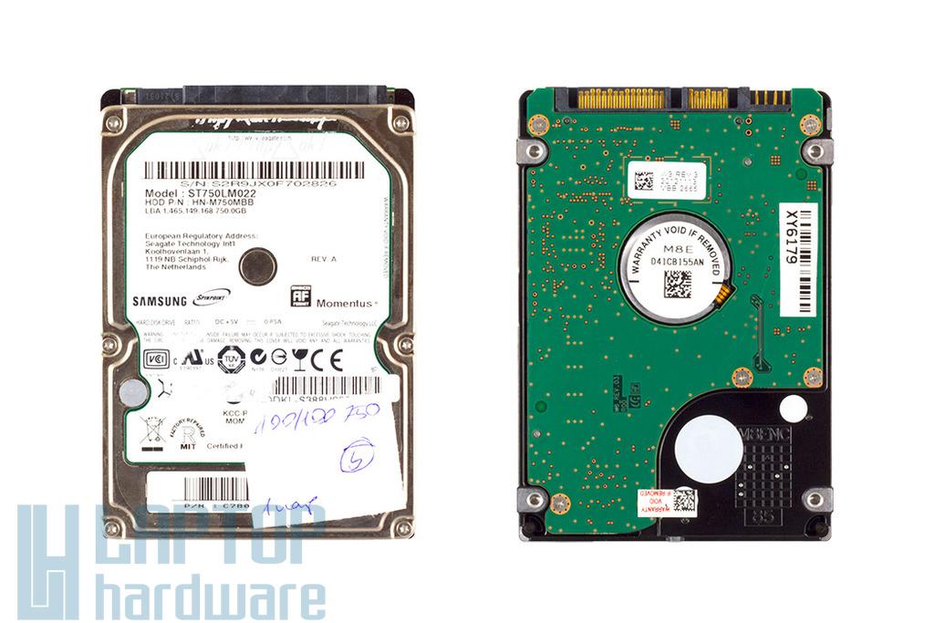 Samsung Spinpoint Momentus 750GB használt SATA2 laptop winchester (HN-M750MBB)