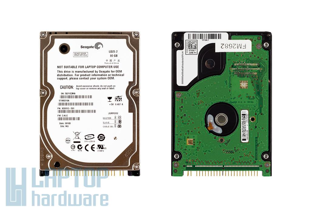 Seagate 80GB 5400rpm használt laptop IDE, PATA winchester (ST980210A)