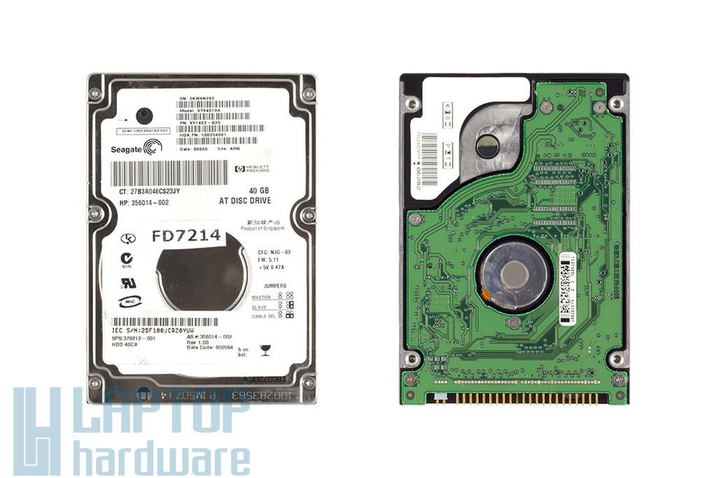 Seagate Momentus 40GB IDE laptop Winchester, ST94019A