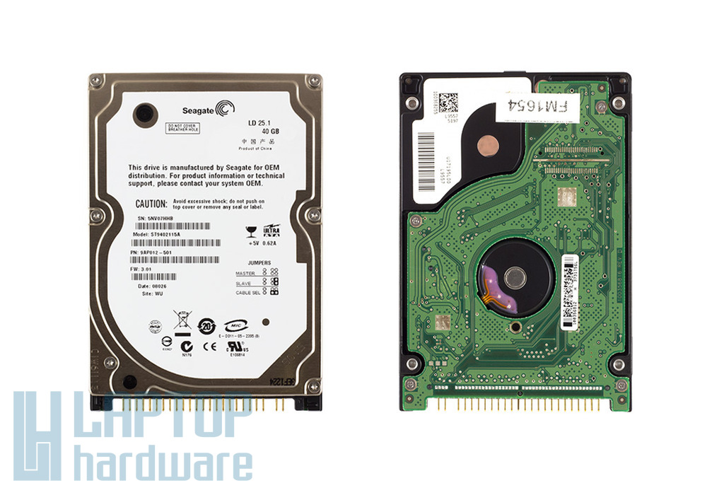 Seagate Momentus 40GB IDE laptop Winchester, ST9402115A
