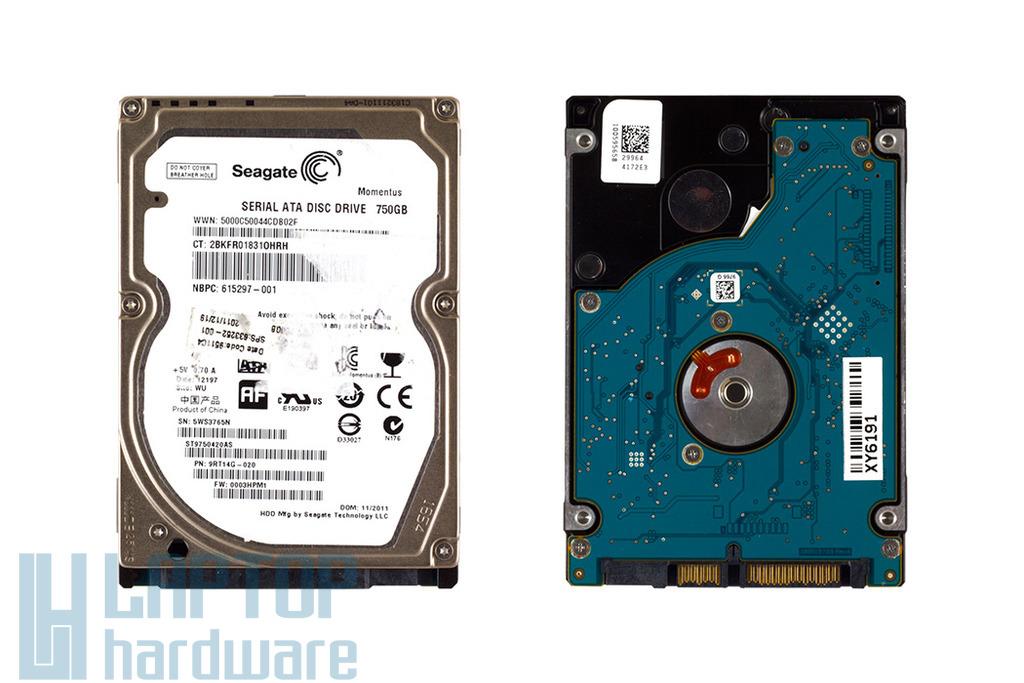Seagate Momentus 750GB SATA2 használt laptop winchester (ST9750420AS)