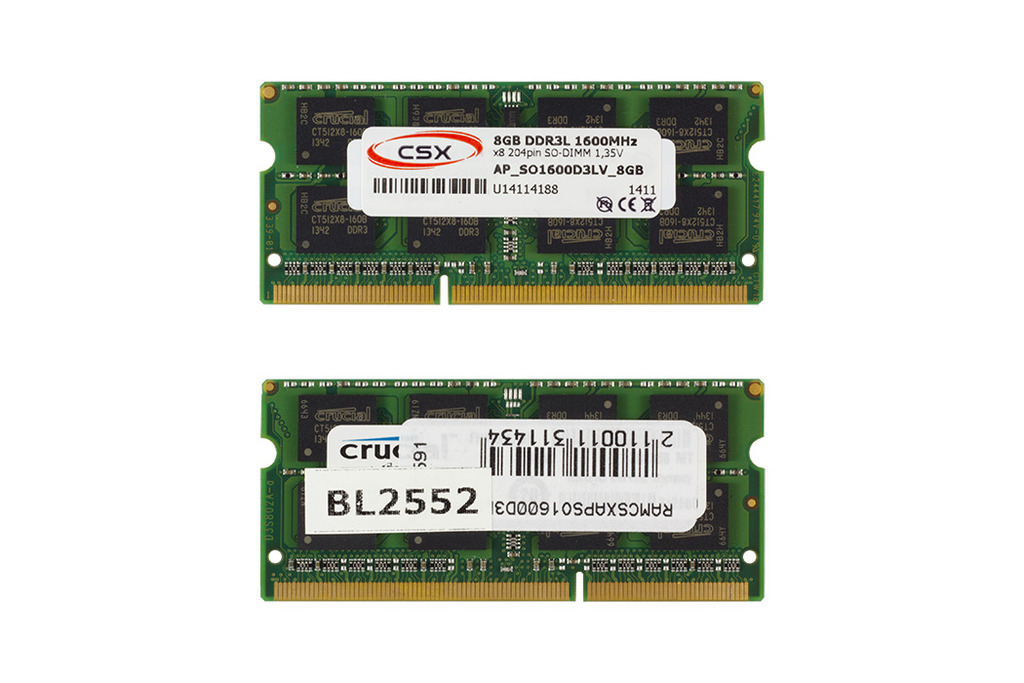 CSX 8GB DDR3L 1600MHz gyári új low voltage memóra Apple