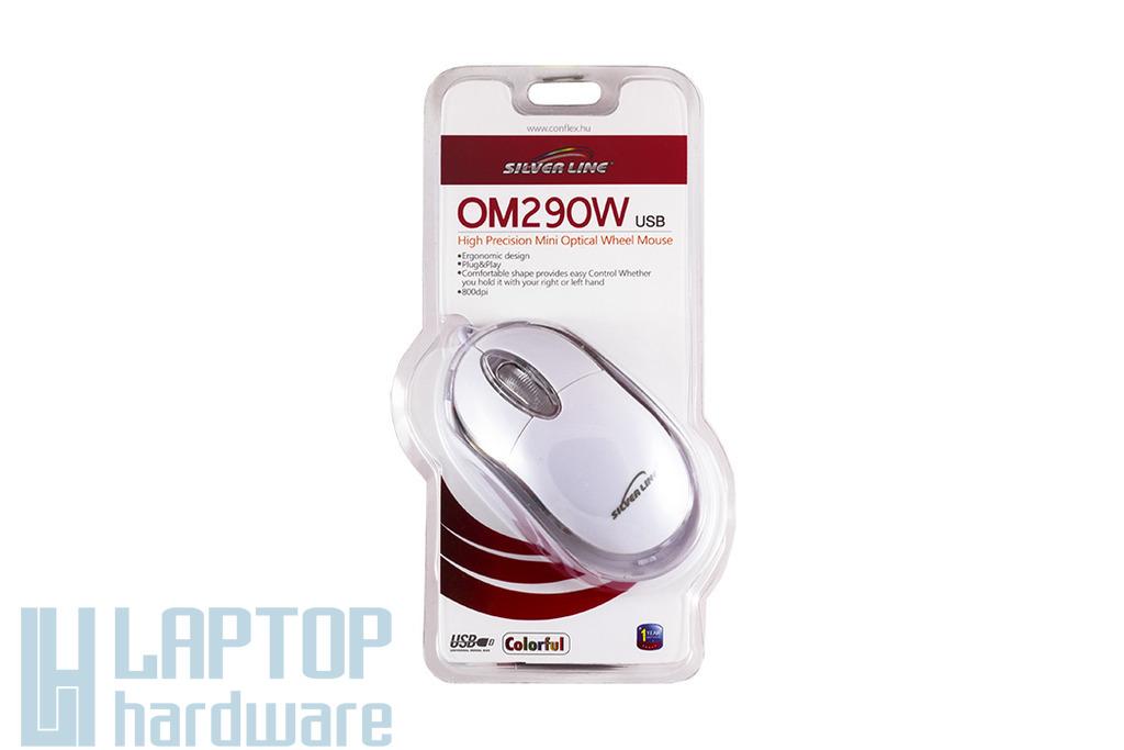 Silver Line fehér USB optikai egér (OM290W)