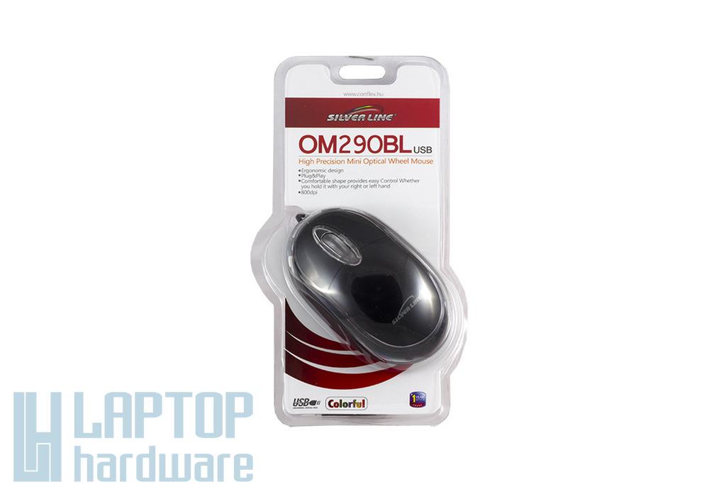 Silver Line fekete USB optikai egér (OM290BL)